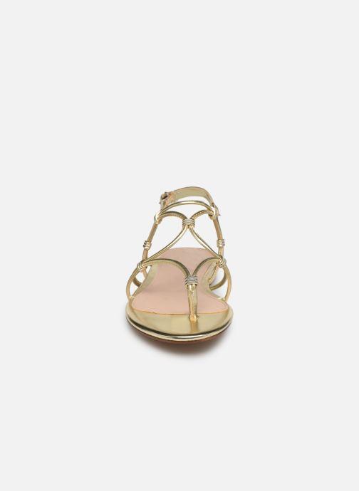 Sandales et nu-pieds Aldo CEARKA Or et bronze vue portées chaussures