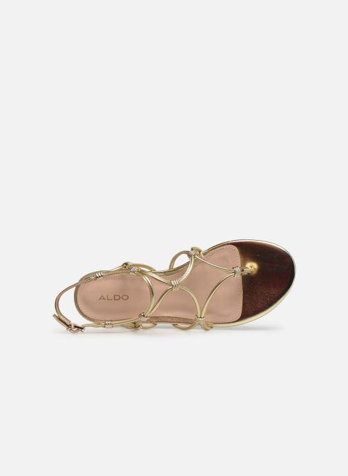 Sandales et nu-pieds Aldo CEARKA Or et bronze vue gauche