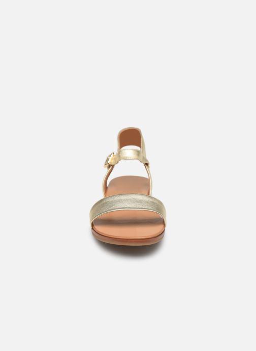 Sandales et nu-pieds Aldo ETERILLAN Or et bronze vue portées chaussures