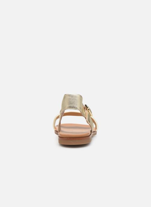 Sandales et nu-pieds Aldo ETERILLAN Or et bronze vue droite
