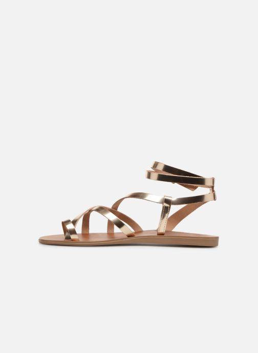 Sandales et nu-pieds Aldo GLUDDA Or et bronze vue face