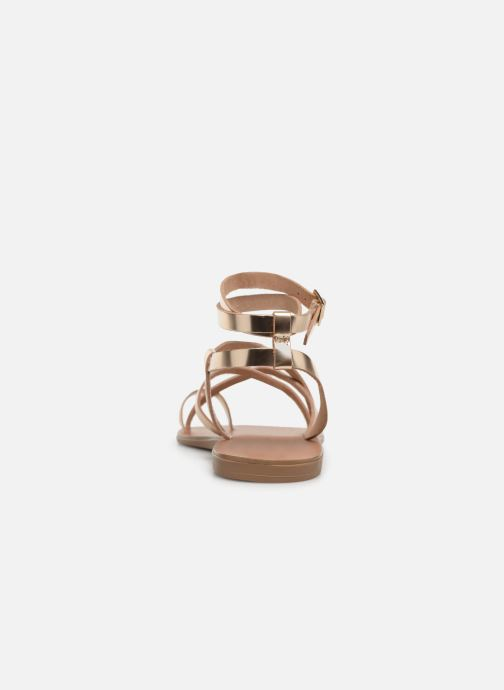 Sandales et nu-pieds Aldo GLUDDA Or et bronze vue droite
