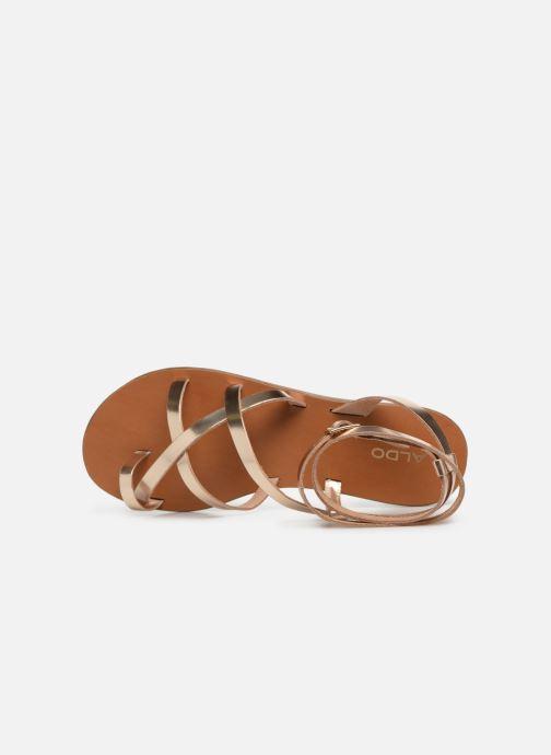 Sandales et nu-pieds Aldo GLUDDA Or et bronze vue gauche