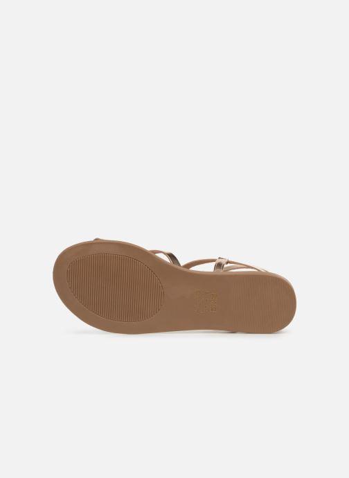 Sandales et nu-pieds Aldo GLUDDA Or et bronze vue haut