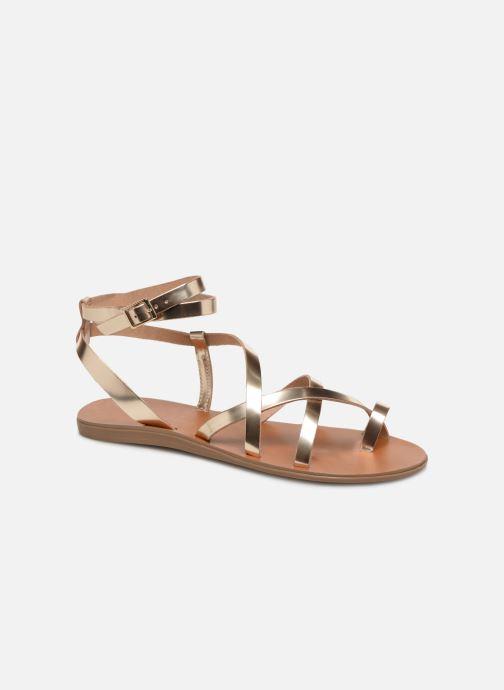 Sandales et nu-pieds Aldo GLUDDA Or et bronze vue détail/paire