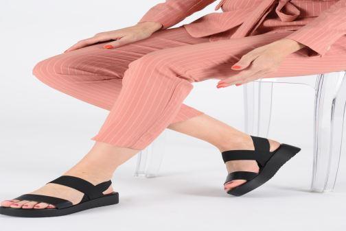 Sandales et nu-pieds Aldo SEANGWEN Noir vue bas / vue portée sac