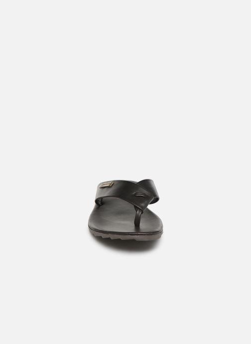 Tongs Les Tropéziennes par M Belarbi DAFFY Marron vue portées chaussures