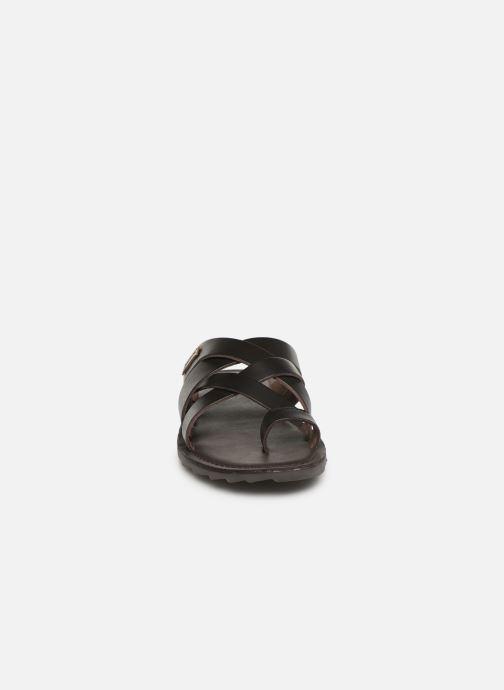 Sandales et nu-pieds Les Tropéziennes par M Belarbi DALAM Marron vue portées chaussures