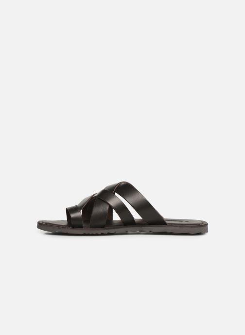 Sandales et nu-pieds Les Tropéziennes par M Belarbi DALAM Marron vue face