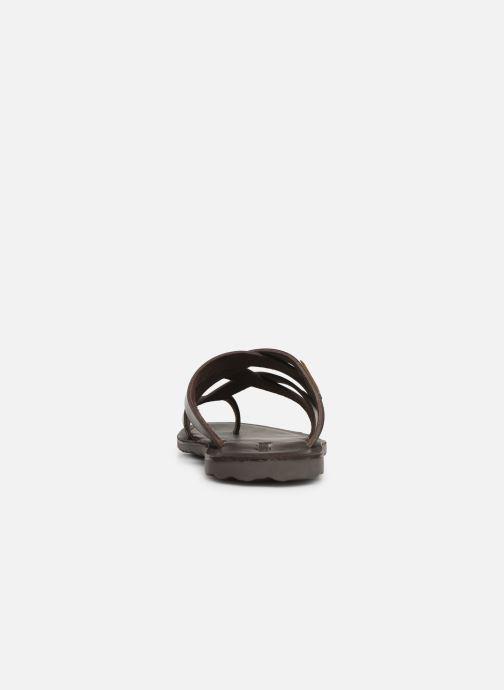 Sandales et nu-pieds Les Tropéziennes par M Belarbi DALAM Marron vue droite