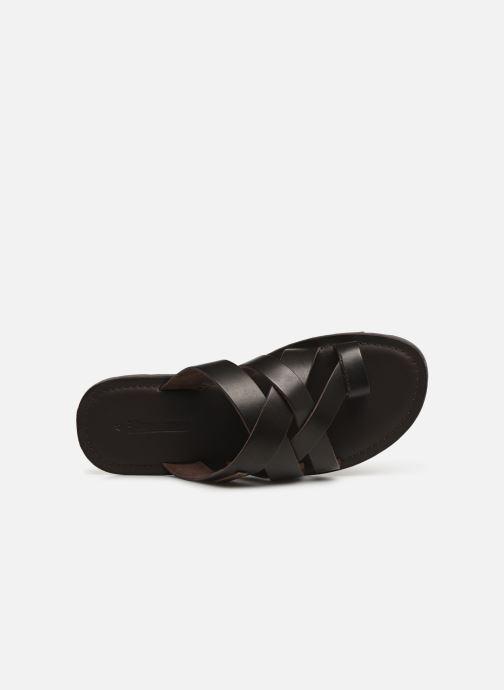 Sandales et nu-pieds Les Tropéziennes par M Belarbi DALAM Marron vue gauche