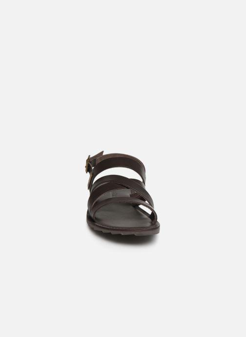 Sandales et nu-pieds Les Tropéziennes par M Belarbi DAIKO Marron vue portées chaussures