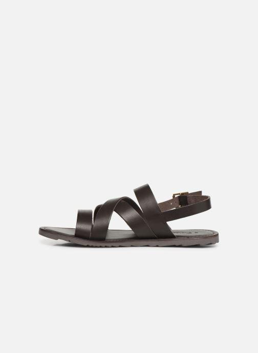 Sandales et nu-pieds Les Tropéziennes par M Belarbi DAIKO Marron vue face