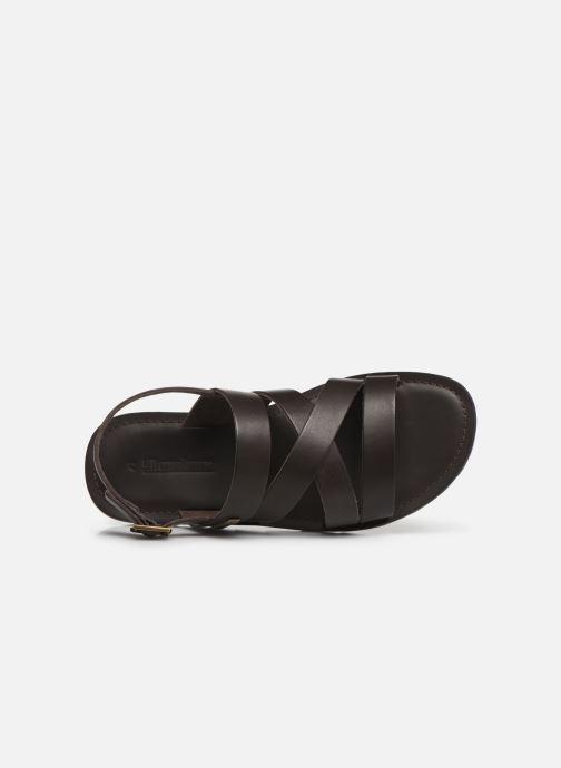 Sandales et nu-pieds Les Tropéziennes par M Belarbi DAIKO Marron vue gauche