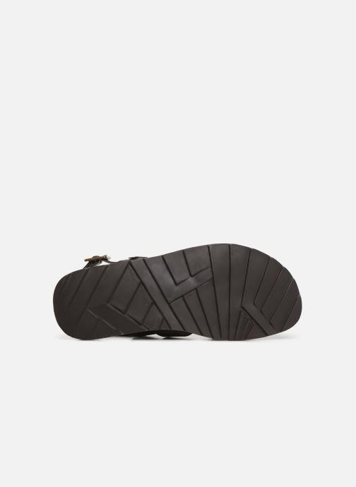 Sandales et nu-pieds Les Tropéziennes par M Belarbi DAIKO Marron vue haut