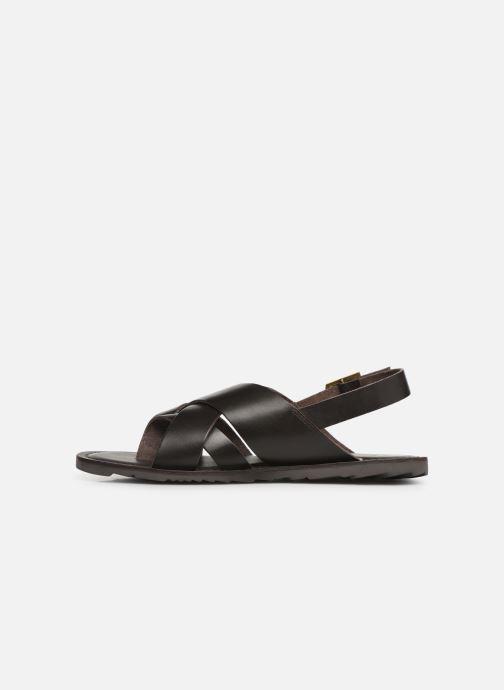 Sandales et nu-pieds Les Tropéziennes par M Belarbi DACO Marron vue face