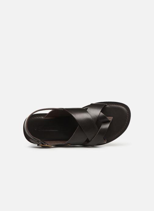 Sandales et nu-pieds Les Tropéziennes par M Belarbi DACO Marron vue gauche