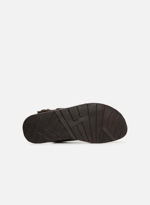 Sandales et nu-pieds Les Tropéziennes par M Belarbi DACO Marron vue haut