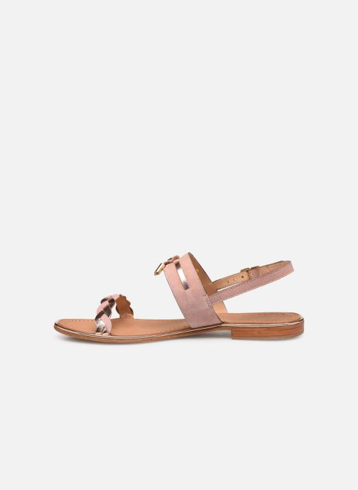 Sandales et nu-pieds Les Tropéziennes par M Belarbi HAYA Rose vue face