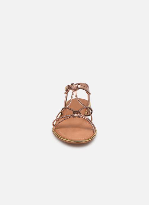 Sandales et nu-pieds Les Tropéziennes par M Belarbi HERON Or et bronze vue portées chaussures