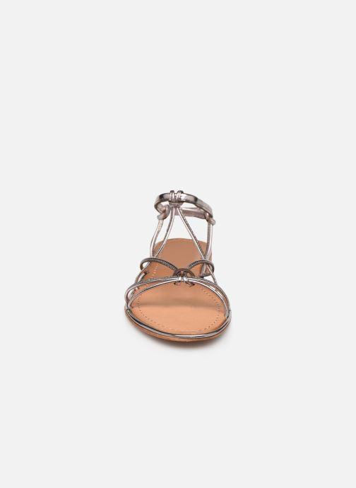 Sandales et nu-pieds Les Tropéziennes par M Belarbi HERON Argent vue portées chaussures
