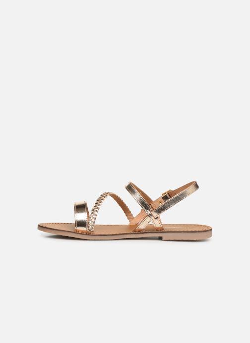 Sandales et nu-pieds Les Tropéziennes par M Belarbi BATRESSE Or et bronze vue face