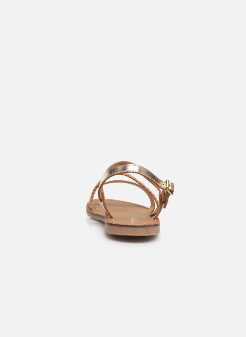 Sandalias Les Tropéziennes par M Belarbi BATRESSE Oro y bronce vista lateral derecha