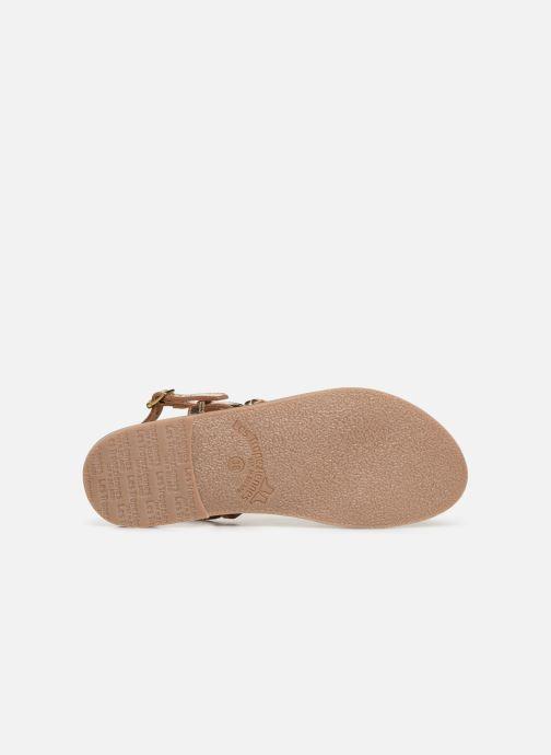 Sandales et nu-pieds Les Tropéziennes par M Belarbi BATRESSE Or et bronze vue haut