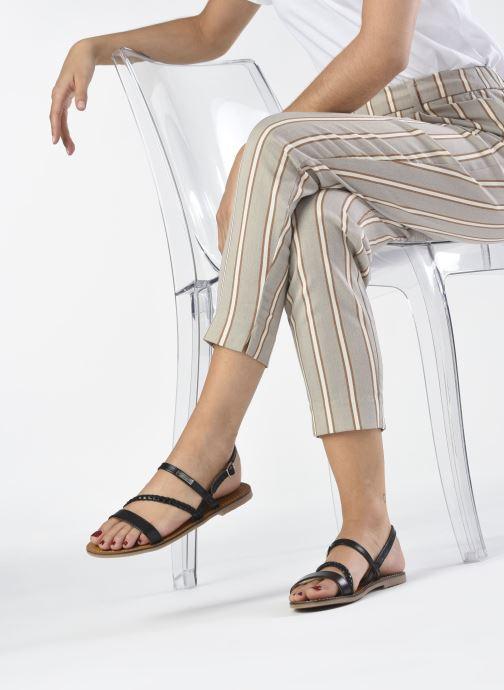 Sandales et nu-pieds Les Tropéziennes par M Belarbi BATRESSE Noir vue bas / vue portée sac