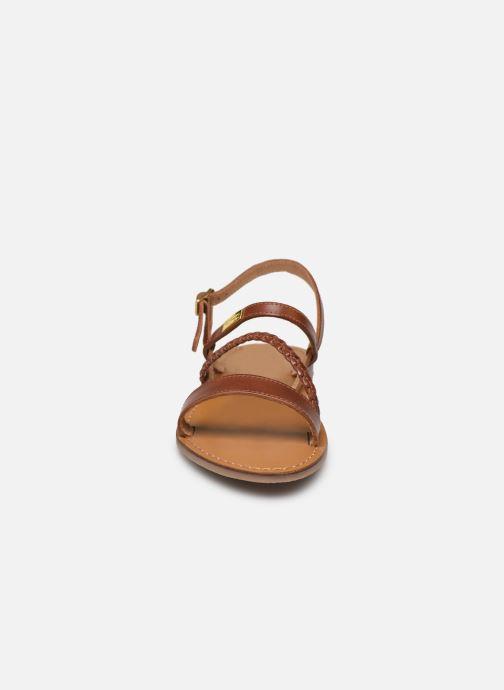 Sandales et nu-pieds Les Tropéziennes par M Belarbi BATRESSE Marron vue portées chaussures