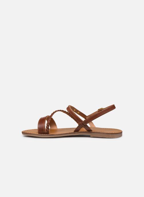 Sandales et nu-pieds Les Tropéziennes par M Belarbi BATRESSE Marron vue face