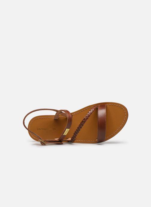 Sandales et nu-pieds Les Tropéziennes par M Belarbi BATRESSE Marron vue gauche