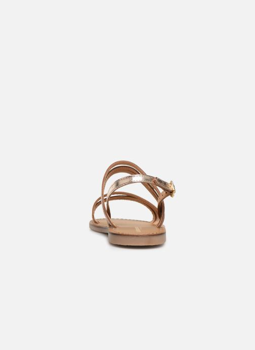 Sandals Les Tropéziennes par M Belarbi BRENDA Bronze and Gold view from the right