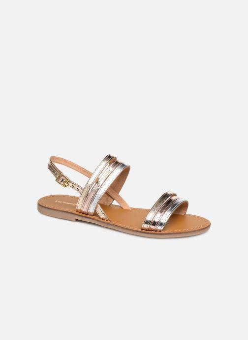 Sandals Les Tropéziennes par M Belarbi BRENDA Bronze and Gold detailed view/ Pair view
