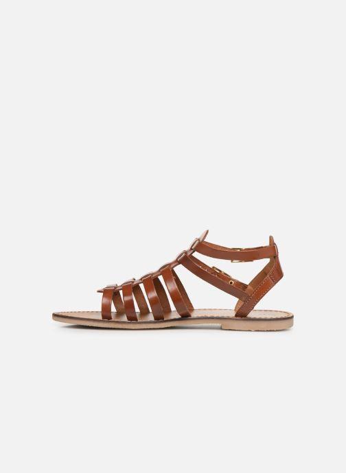 Sandales et nu-pieds Les Tropéziennes par M Belarbi HICELOT Marron vue face