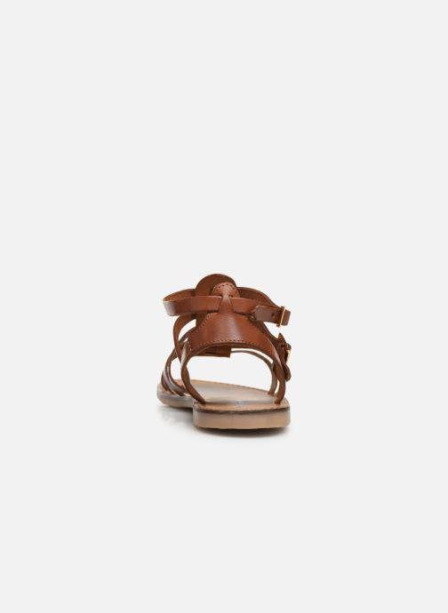 Sandales et nu-pieds Les Tropéziennes par M Belarbi HICELOT Marron vue droite
