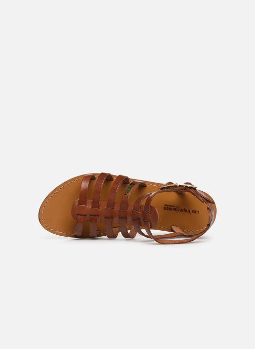 Sandales et nu-pieds Les Tropéziennes par M Belarbi HICELOT Marron vue gauche