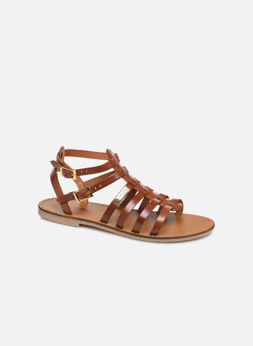 Sandales et nu-pieds Les Tropéziennes par M Belarbi HICELOT Marron vue détail/paire