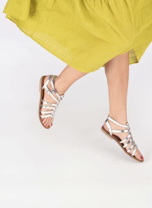 Sandales et nu-pieds Les Tropéziennes par M Belarbi HICELOT Argent vue bas / vue portée sac