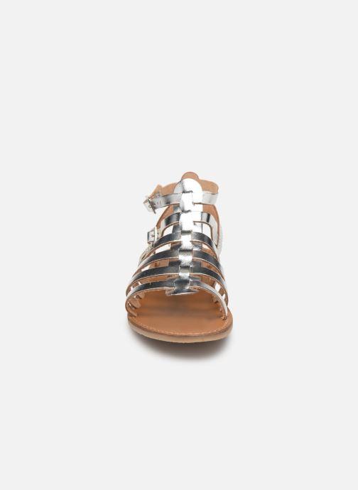Sandales et nu-pieds Les Tropéziennes par M Belarbi HICELOT Argent vue portées chaussures