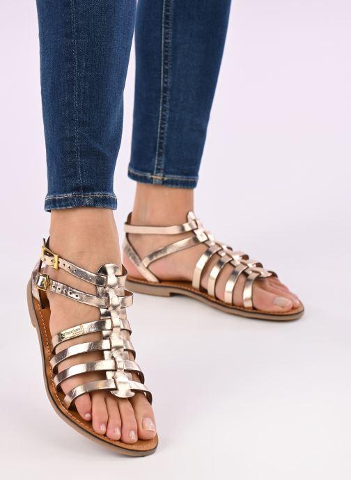 Sandales et nu-pieds Les Tropéziennes par M Belarbi HICELOT Or et bronze vue bas / vue portée sac