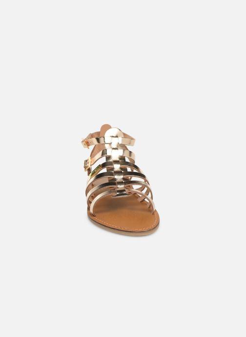 Sandales et nu-pieds Les Tropéziennes par M Belarbi HICELOT Or et bronze vue portées chaussures