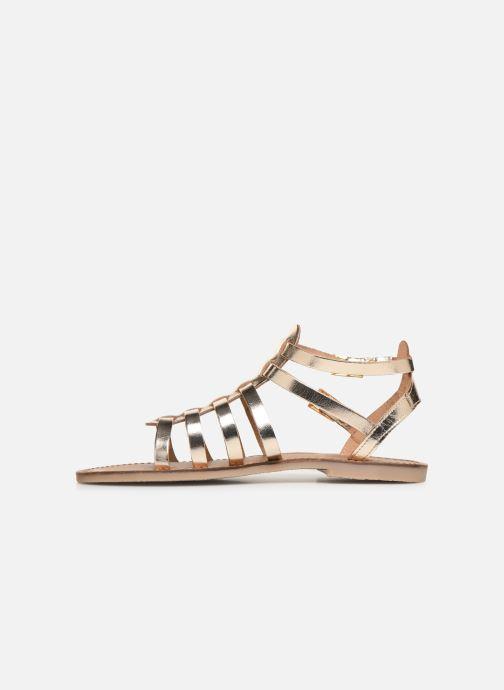 Sandales et nu-pieds Les Tropéziennes par M Belarbi HICELOT Or et bronze vue face