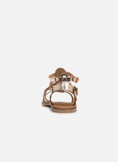 Sandalias Les Tropéziennes par M Belarbi HICELOT Oro y bronce vista lateral derecha