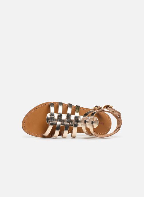 Sandals Les Tropéziennes par M Belarbi HICELOT Bronze and Gold view from the left