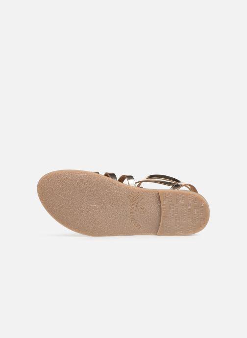 Sandales et nu-pieds Les Tropéziennes par M Belarbi HICELOT Or et bronze vue haut