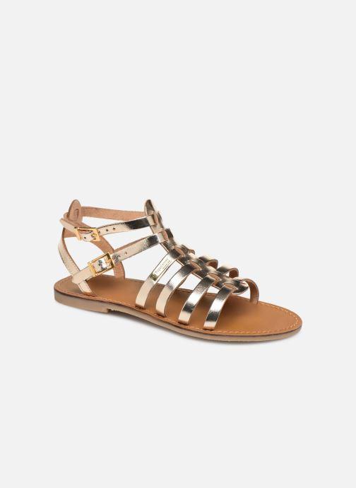 Sandals Les Tropéziennes par M Belarbi HICELOT Bronze and Gold detailed view/ Pair view