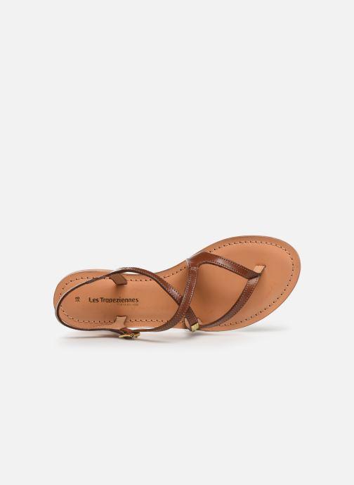 Sandales et nu-pieds Les Tropéziennes par M Belarbi HEDI Marron vue gauche
