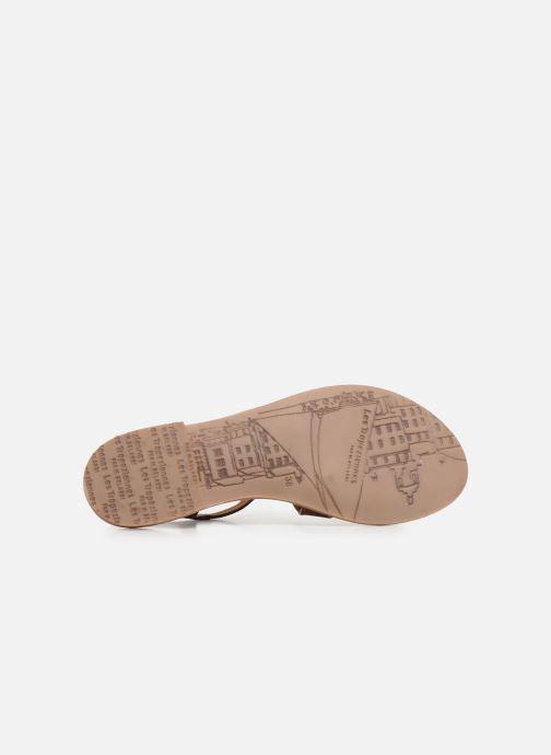 Sandales et nu-pieds Les Tropéziennes par M Belarbi HEDI Marron vue haut
