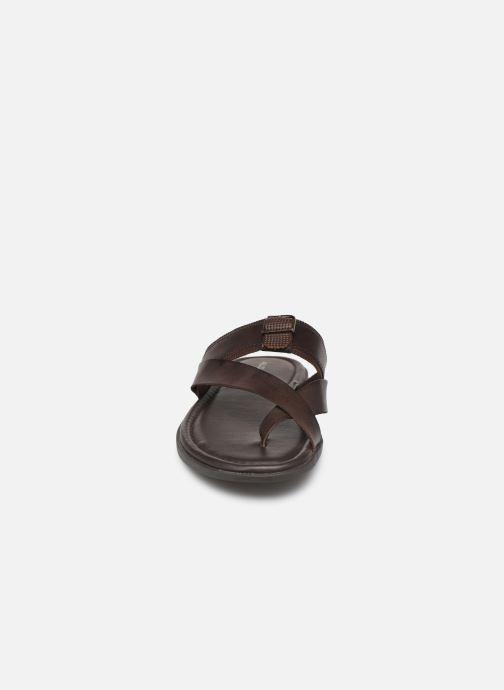 Sandales et nu-pieds Aldo BAECCI Marron vue portées chaussures